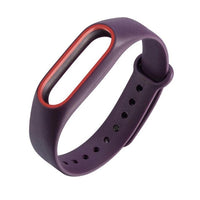 ALLOYSEED 220mm Double Color Replacement Watch Strap For Xiaomi Mi Band 2 Strap Bracelet Fitness Wrist Watch Band For Miband 2