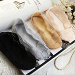 Summer Women Girl Invisible No Show Nonslip Loafer Lace Boat socks Liner Low Cut Cotton Sole Antiskid Pink Peds Sock 1pair=2pcs