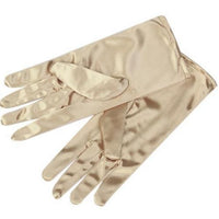 1Pair Women Short Wrist Gloves Smooth Satin For Party Dress Prom Evening Wedding