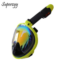 2018 New Plated Diving Mask Scuba Mask Underwater Anti Fog Full Face Snorkeling Mask Women Men Swimming Snorkel Diving Equipment