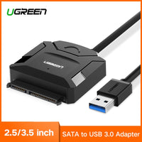 Ugreen SATA to USB Adapter USB 3.0 2.0 to Sata 3 Cable Converter for 2.5 3.5 HDD SSD Hard Disk Drive USB Sata Adapter