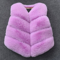 Bear Leader Girls Fur Outerwear 2018 New Autumn&Winter Fashion Thick Warm Faux Fur Environmentally Friendly ur Colorful Vest