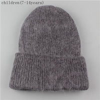 Xthree new simple Rabbit fur Beanie Hat for Women Winter hat for children Skullies Warm Gravity Falls Cap Gorros Female Cap