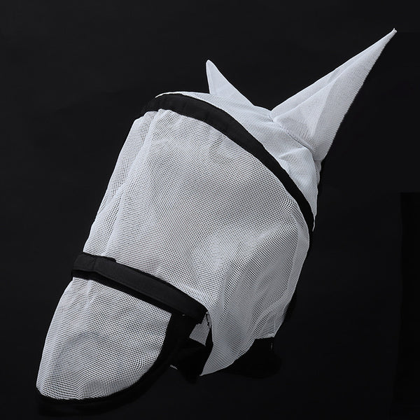 Anti-mosquito Horse Full Face Mesh Protection Ears Nose Cob Fly Mask Net