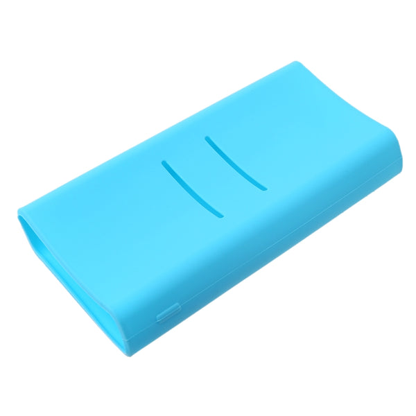 1pc Anti-slip Silicone Protection Case Cover For Xiaomi mi 2C 20000mAh Powerbank Protector Sleeve Power Bank Accessories Blue