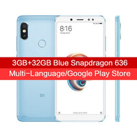 "Global Version Xiaomi Redmi Note 5 3GB 32GB Android 8.1 Mobile Phone Snapdragon 636 Octa Core 5.99"" 18:9 Full Screen Dual Camera"