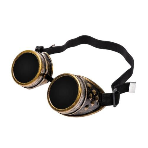 Retro Steam Punk Gothic Goggles Riding Wind proof Protective Eyewear Cosplay