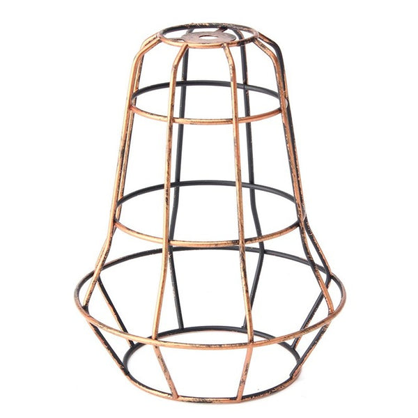 Smuxi Retro Vintage Industrial Lamp Covers Pendant Trouble Light Bulb Guard Wire Cage Ceiling Hanging Bars Cafe Lamp Shade