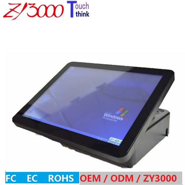 hot sale 15 inch 1037u 2G ddr3 hdd Msata 32G SSD WIFI capacitance multi all in one  pos terminal / pos system
