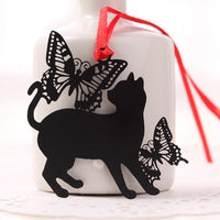 DIY Cute Kawaii Black Cat Metal Bookmark for Book Paper Creative Items Lovely Korean Stationery Gift Package Student 441
