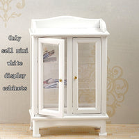 1:12 Doll House Accessories Mini White Display Cabinet