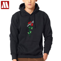 Gothic Style Women/ Men Sexy Rose Printing Baggy Pullovers Male Fashion Hip Hop Sweatshirts Men Hoodies Sweatshirt Plus Size 4XL