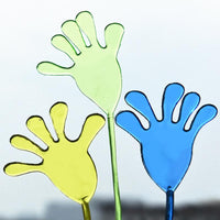 10 PCS/Set Vintage Spoof Trick Elastic Retractable Sticky Palm Hand Toy Random Color Delivery