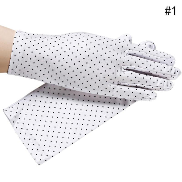 New Cotton Antiskid Lace Bowknot Dots Short Sunscreen Gloves Summer Driving Women Gloves
