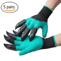 Garden Genie Gloves Stab-Resistant Waterproof with Fingertips Claws Quick Safe for Rose Pruning