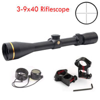 3-9x40 Riflescope Mil Dot Reticle Duplex Matte Black Rifle Scope W/ 20mm Mounts