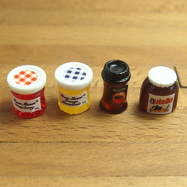Dollhouse Miniature Kitchen Food Jam Coffee Condiment Random DIY Decor