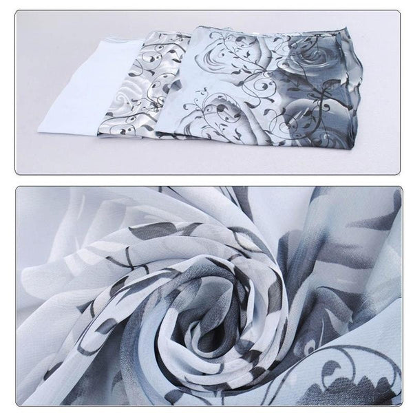 1Pcs Fashion Stylish Women Long Soft Silk Chiffon Scarf Wrap Shawl Scarves