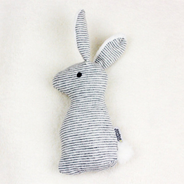 Baby 0 1 Year Old Rabbit Hand Grab Bar Plush Hand Holding Toys