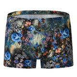 2018 Stylish Underwear Men Boxer Trunks Male Shorts Underpants Floral Hawaiian Style Casual Boardshorts Beach Hombre Boxer