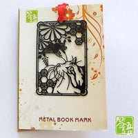 Creative Kawaii Metal Book Markers Marque Page Cute Cat Bookmark For Books Paper Clip Korean Stationery Student 735