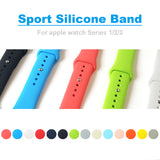 Band for apple watch 42mm 38mm Sport Silicone Watchband Replaceable Bracelet Strap for iWatch Series 4 / 2 / 3 Watchstrap