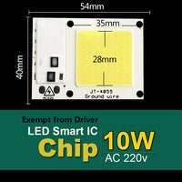 LED Lamp COB 50W 220V 5W 10W 20W 30W 230V Input Smart IC Driver Fit For DIY LED Floodlight Spotlight Cold White Warm White