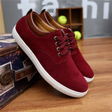 2018 New Fashion Autumn/Winter Suede Men Shoes Men Canvas Shoes Leather Casual Breathable Shoes Flats Big Size 38-49 Free Ship
