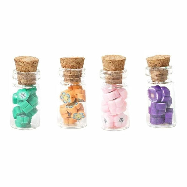 4Pcs Candy Jar for 1:12 Dollhouse Miniature Food
