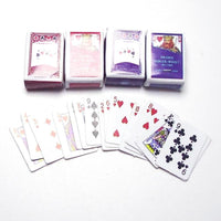 1:12 DIY Dollhouse Miniature Doll House Miniature Scene Model Poker Card Paper Form