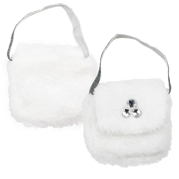 18 Inch American Girl Doll Og Doll Accessories White Plush Bag Handbag