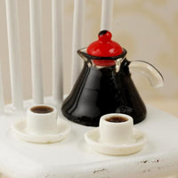 1:12 Doll House Accessories Mini Coffee Maker Set