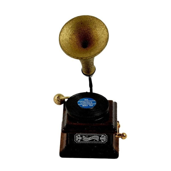 Dollhouse Miniature   Victorian Gramophone Vintage Record Player 1/12th Scale