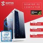 GETWORTH Gaming PC Desktop Computer Intel i7 8700K GTX1070 180GB SSD WD 1TB HDD Win10 PUBG 8G RAM ASUS Z370 Water Cooling Z1