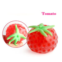 1PC Venting Ball Sticky Smash Water Ball Anti Stress Goods Various Types Fruits Toys