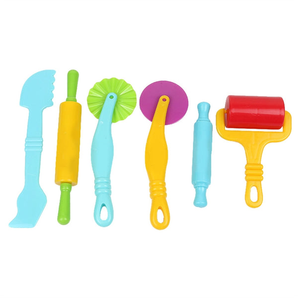 6pcs Plastic Smart Art Clay and Dough Playing Tools Kit for Kids Children