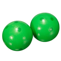 5Set Sale Wooden Bowling Ball Skittle Animal Shape Game For Kids Children Toy Green