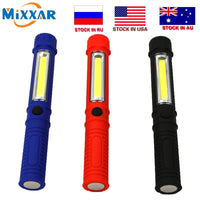 Czk10 COB LED Mini Pen Multifunction led Torch light Handle work flashlight Work Hand Torch Flashlight With the Bottom Magnet