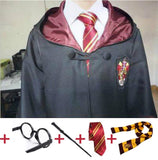 Robe Cape with Tie Scarf Wand Glasses Ravenclaw Gryffindor Hufflepuff Slytherin Cosplay