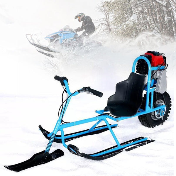 Electric Skiing Vehicle Single Board Snowmobile Directional Snow Sledge Blowmobile For Children Skiing Safety Drop Shipping