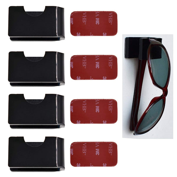 Eyewear Holder - Stores Reading Glasses, Sunglasses For The Home, Car, Golf Cart, RV, Boat,Etc-4/PK - No Glasses