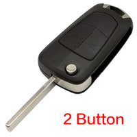 WhatsKey 2 Button Flip Remote Folding Car Key Fob Case For Opel Vauxhall Corsa D Astra J G Zafira ''A Vectra B Mokka G Insignia