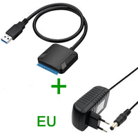 "USB 3.0 to Sata adapter converter cable 22pin sataIII to USB3,0 adapters for 2.5"" 3.5""sata HDD SSD"