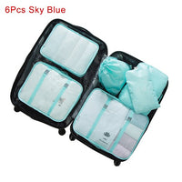 Mihawk Travel Bags Sets Waterproof Packing Cube Portable Clothing Sorting Organizer Luggage Tote System Durable Tidy Pouch Stuff