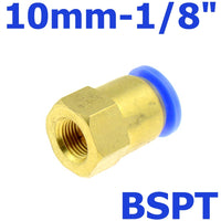 "Air Pipe Fitting 10mm 12mm 8mm 6mm Hose Tube 1/8"" 3/8"" 1/2"" BSP 1/4"" Female Thread Brass Pneumatic Connector Quick Joint Fitting"