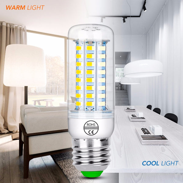 E14 220V Lampada Candle Bulb E27 Led Corn Bulb 230V 5730 Chandelier Light High lumen Led Lamp 3W 7W 12W 15W 18W 20W 25W Bombilla