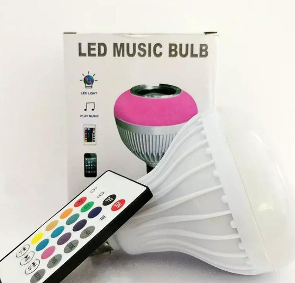 Wireless Bluetooth Speaker +12W RGB Bulb E27 LED Lamp 100-240V 110V 220V Smart Led Light Music Player Audio with Remote Control