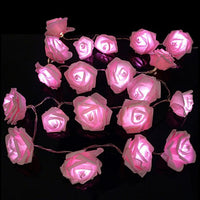 Dcoo Battery 20 LED Fashion Holiday Lighting  Rose Flower Fairy Holiday Lights Wedding Garden Party Valentine's Day Decoration