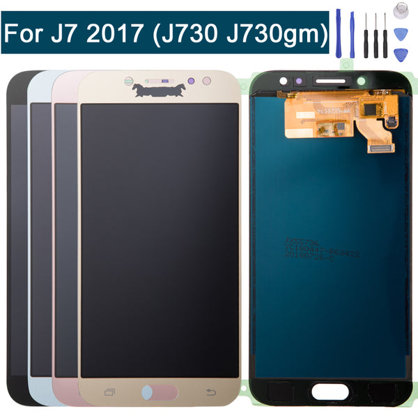 LCD Display Screen Replacement For Samsung Galaxy J7 Pro 2017 J730G J730GM Touch Digitizer + Repair Tools Blue&Gold&Black