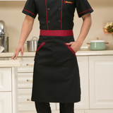Chef Kitchen Work Jacket Long-Sleeved Chef Coat Double Breasted Restaurant Hotel Waiter Cooking Uniforms Bakery Overalls Aprons
